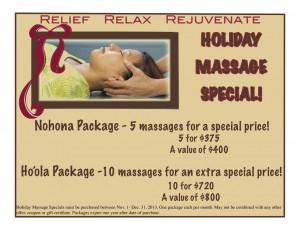 holiday massage flyer 2013