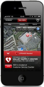PulsePoint Application screenshot. (PRNewsFoto/El Camino Hospital)